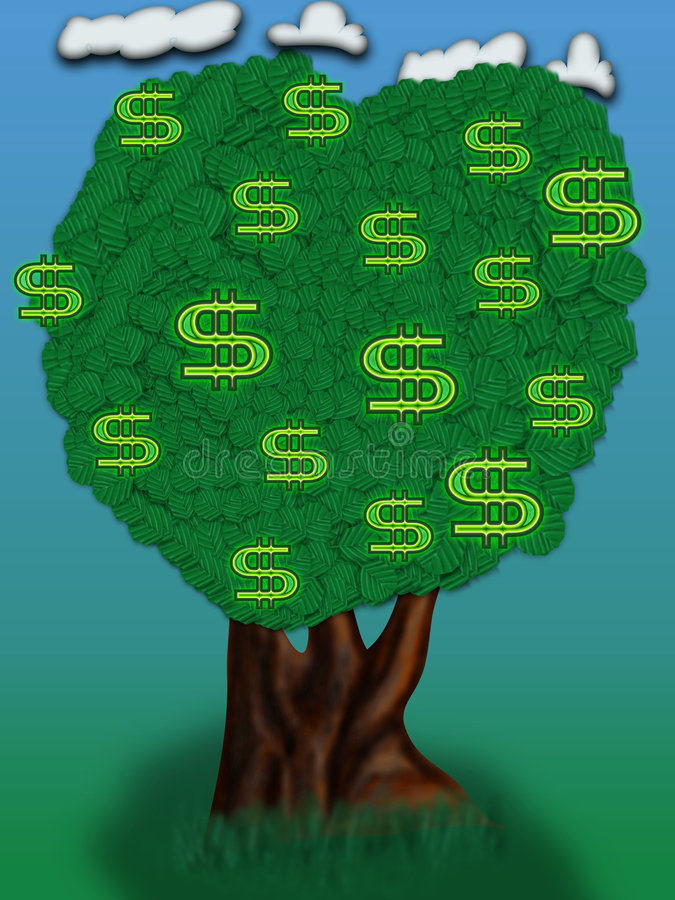 Download Dollar Tree stock illustration. Image of currency, billing - 363539