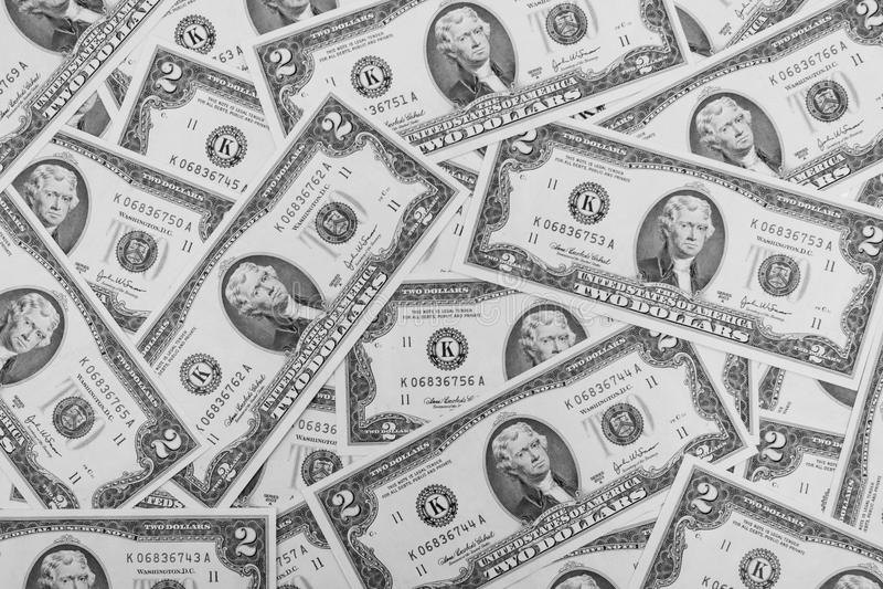dollar två royaltyfri bild