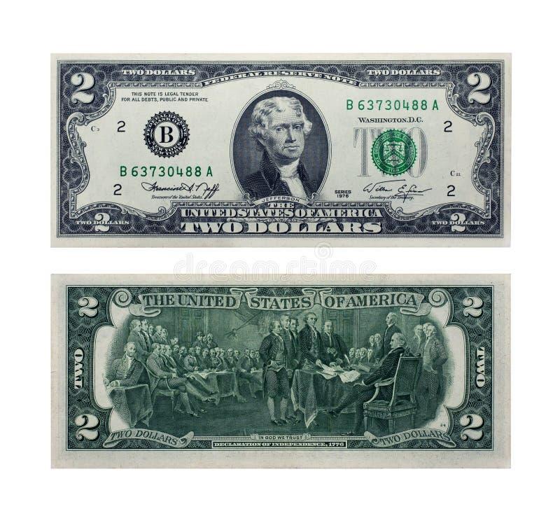 Dollar twee stock afbeeldingen