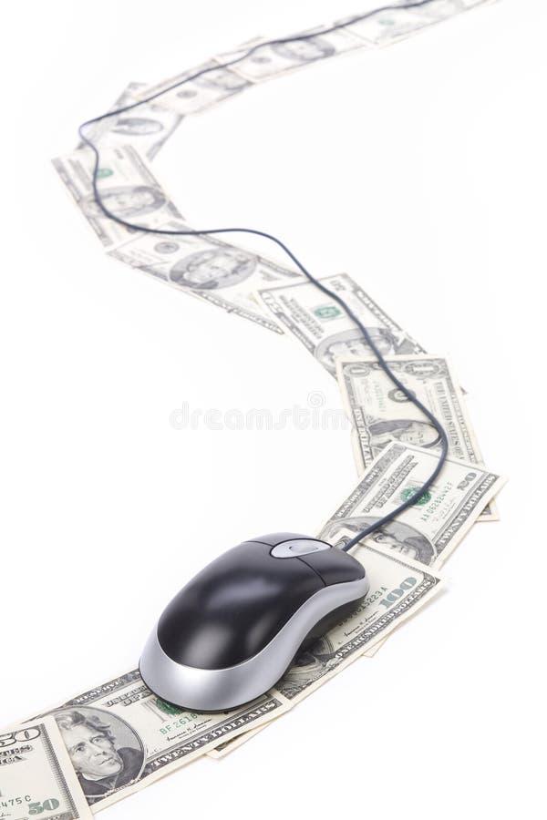 Dollar Und Computermaus Stockbilder
