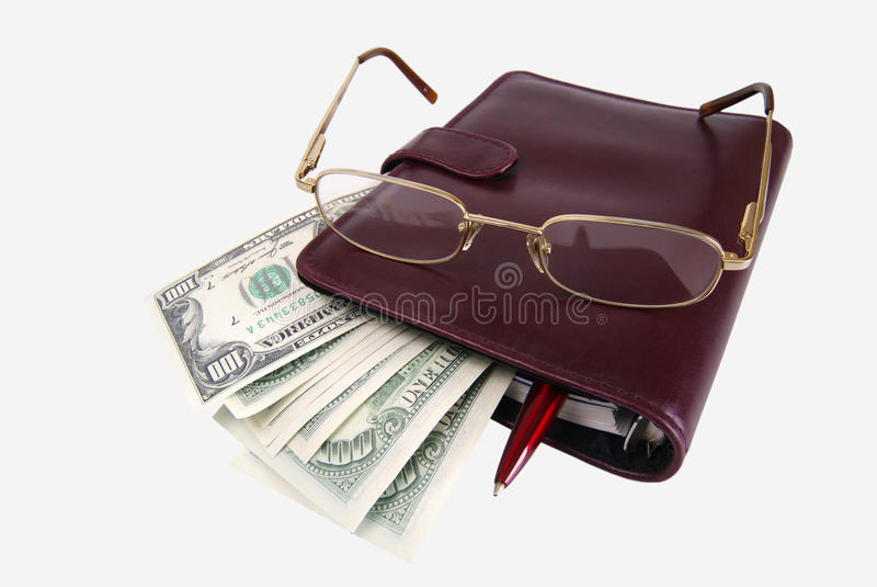 Dollar und das tägliche Protokoll stockfotografie