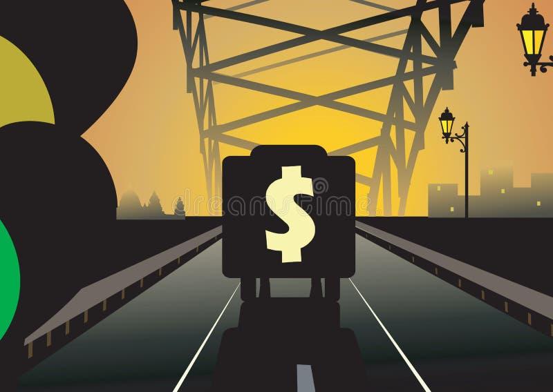 Dollar und LKW vektor abbildung