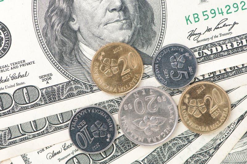 Dollar und Senator money lizenzfreie stockfotos