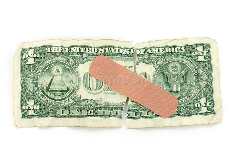 Dollar und Verband stockbilder