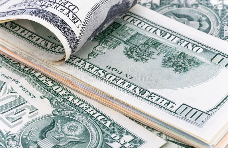 Dollar, The US currency, background. stock images