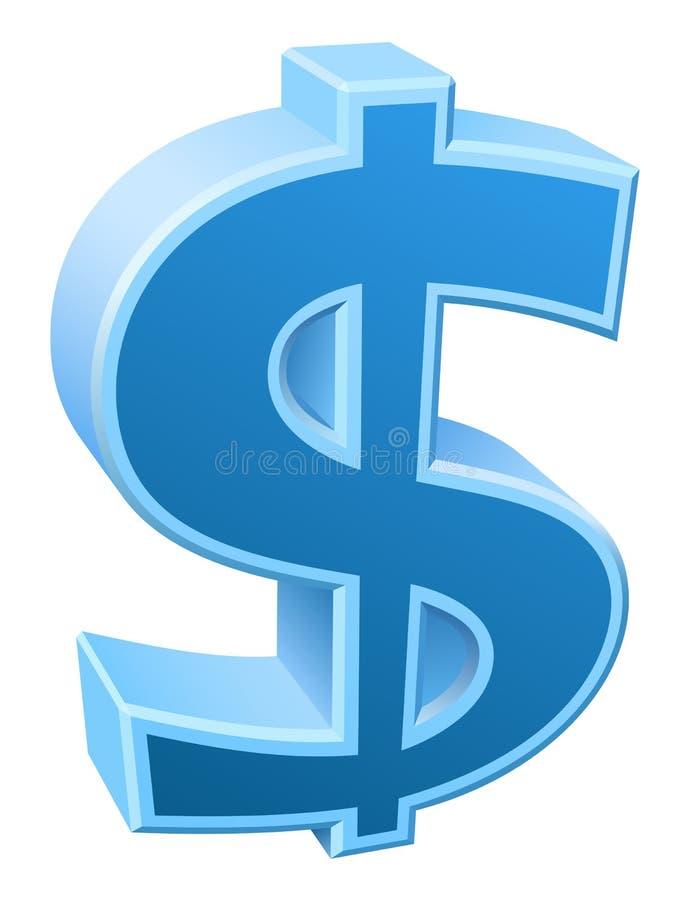 Dollar/vectorpictogram vector illustratie