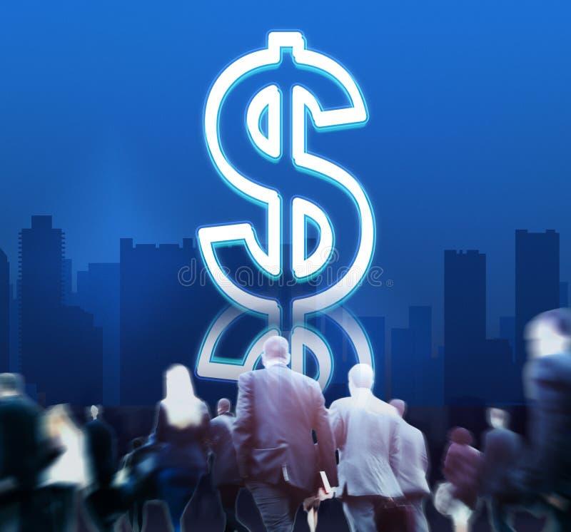 Dollar-Währungs-Bargeld-wirtschaftliches Ikonen-Konzept stock abbildung