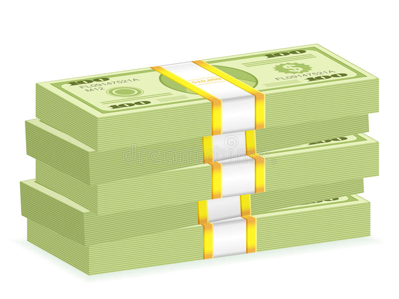 Dollar wad stack vector illustration