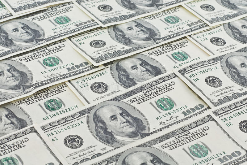 Dollar wallpaper royalty free stock photo