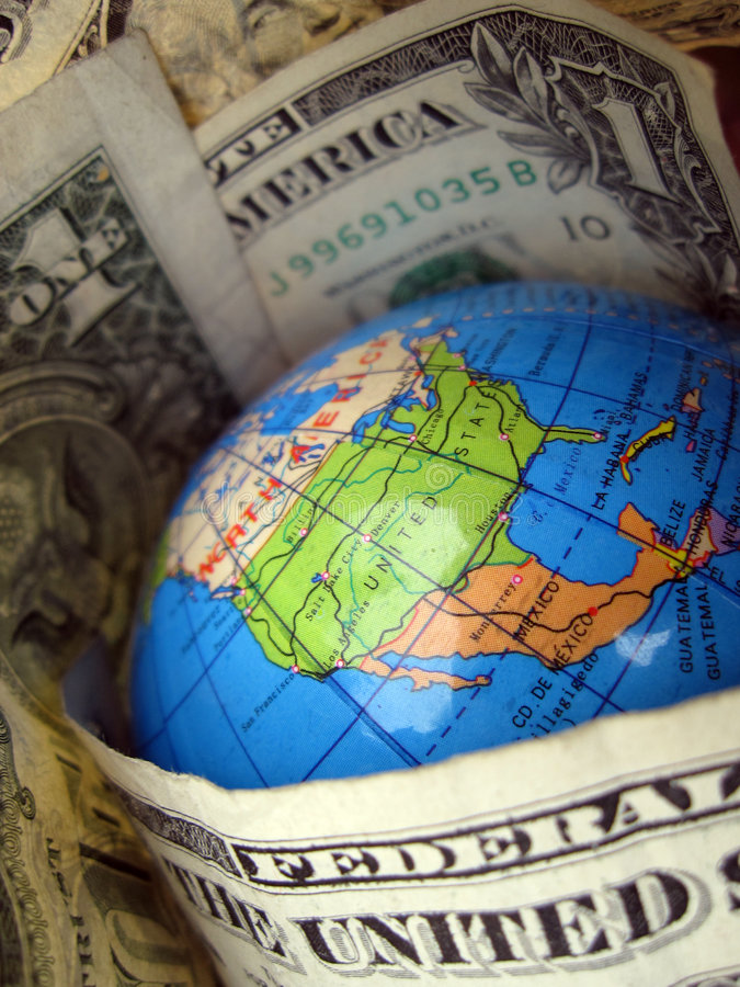 Dollar-Welt lizenzfreie stockfotografie