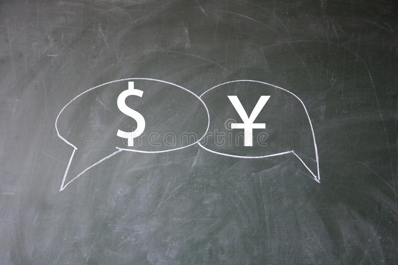 Dollar and yuan symbol