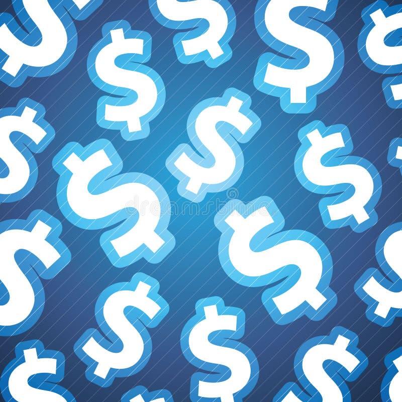 Dollar-Zeichen-Hintergrund stock abbildung