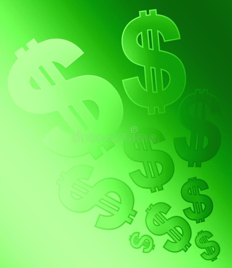 Dollar-Zeichen-Hintergrund-Verblassen Stockfoto