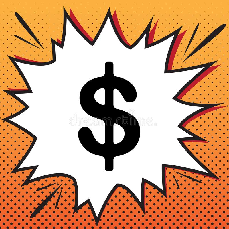Dollar Zeichenabbildung Runde metallische Knöpfe Geldaufkleber Vec stock abbildung