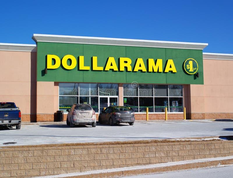 Dollarama-Schaufenster lizenzfreie stockfotos