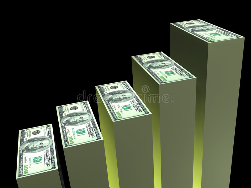 DollarBalkendiagramm stock abbildung