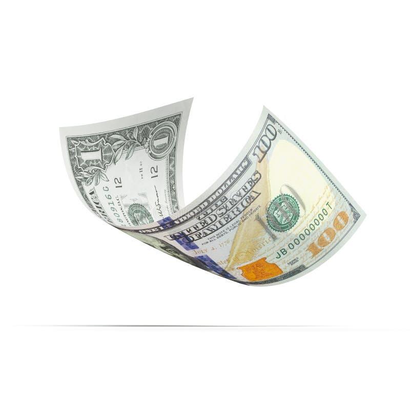 Dollarbankbiljet met verschillende waarden stock illustratie