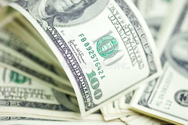 Dollarbankbiljetten stock foto