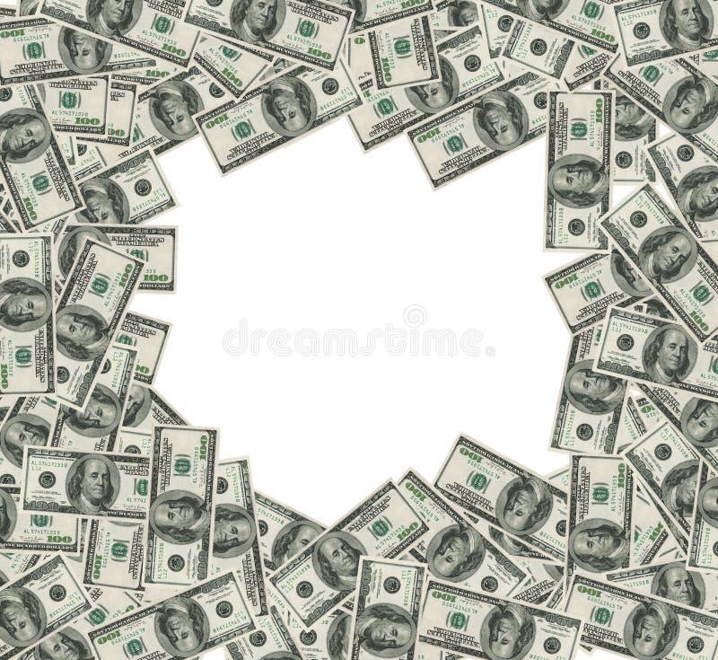 Dollarbanknotefeld. Ausschnittsänderung am objektprogramm eingeschlossen lizenzfreie abbildung