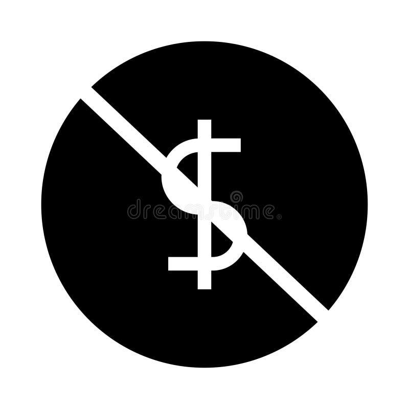 Dollarblock Glyphsikone lizenzfreie abbildung