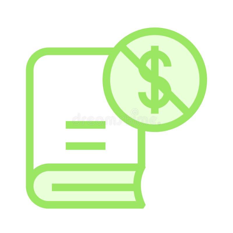 Dollarblockbuch-Farblinieikone stock abbildung