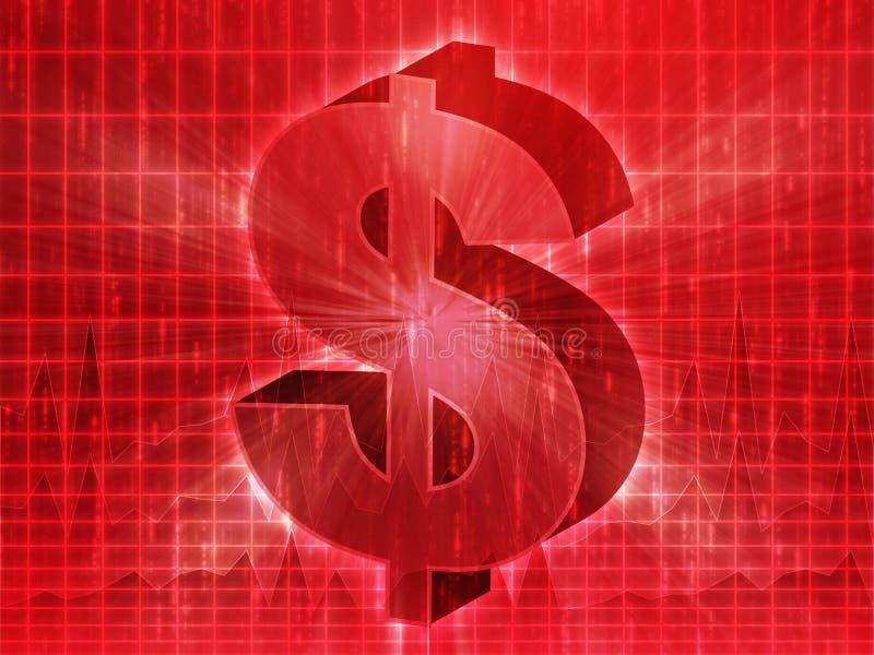 Dollardiagramm lizenzfreie abbildung