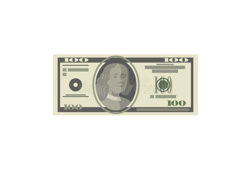 Dollardocument het bankbiljet isoleerde isometrisch pictogram vector illustratie