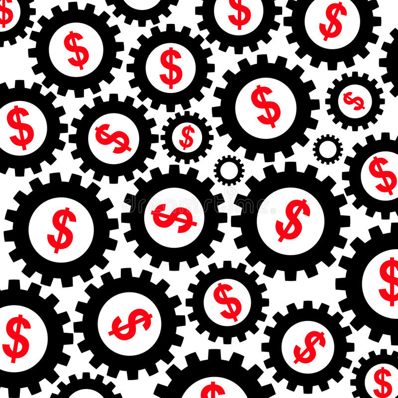 dollarekonomi royaltyfri illustrationer