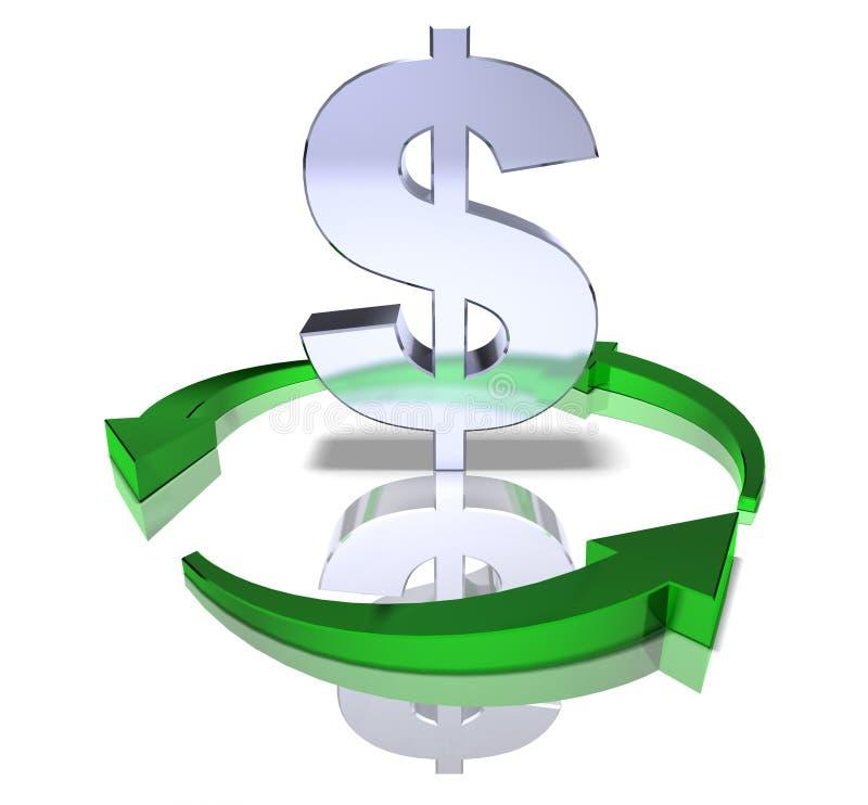 dollaren återanvänder stock illustrationer