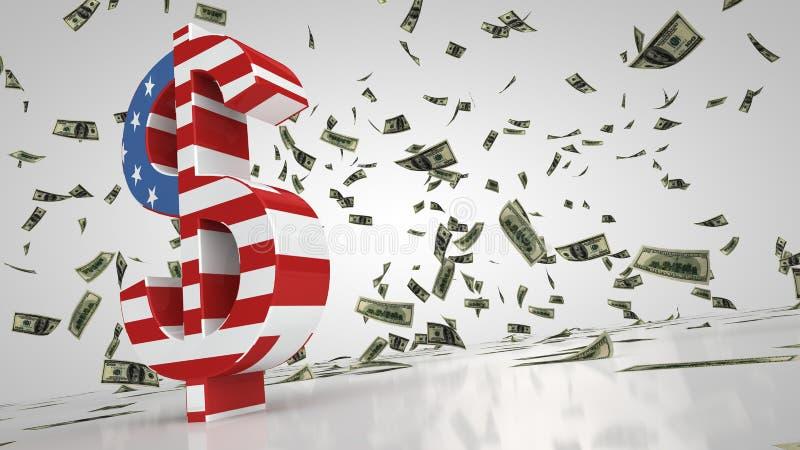 Dollaren undertecknar vektor illustrationer