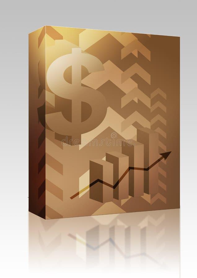 Dollarerfolgsabbildung-Kastenpaket stock abbildung