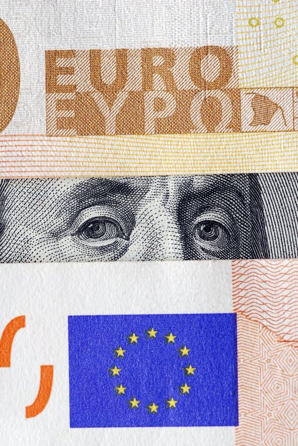 dollareuro under royaltyfria bilder