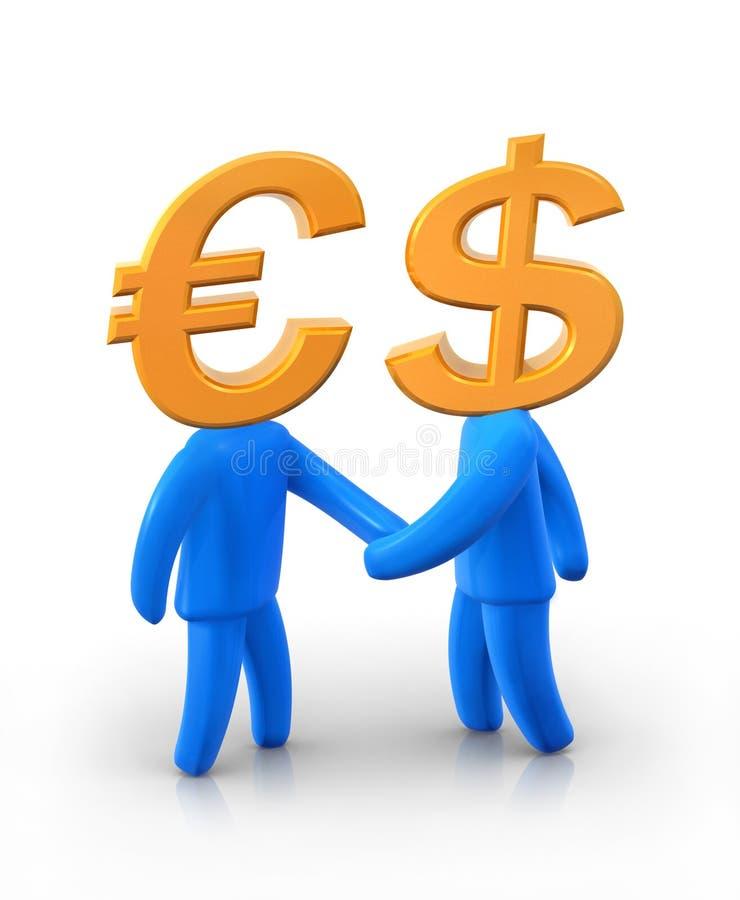 dollareuromr stock illustrationer