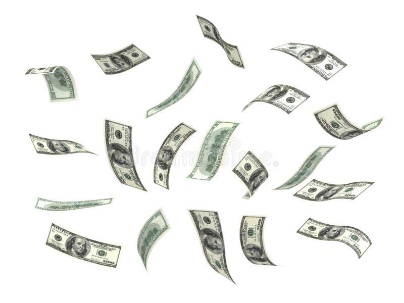 dollarflygpengar vektor illustrationer