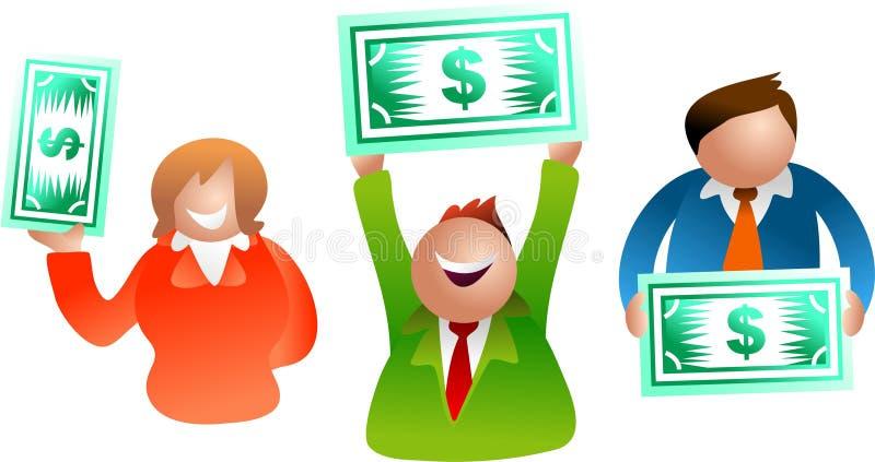 dollarfolk stock illustrationer