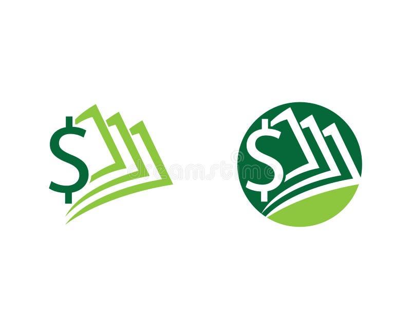 Dollargeld-Vektorikone stock abbildung