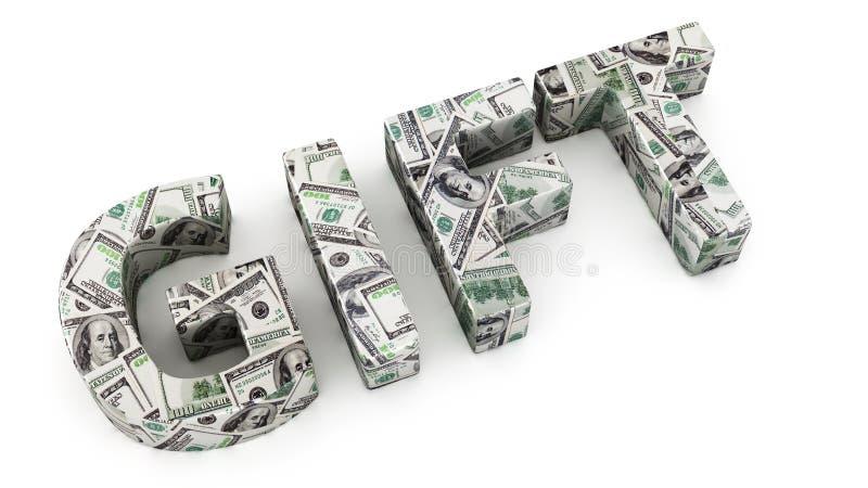 Dollargift vector illustratie