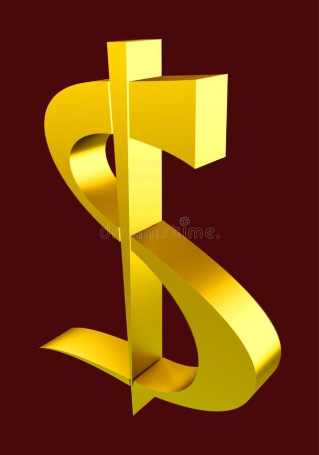 dollarguld royaltyfri foto