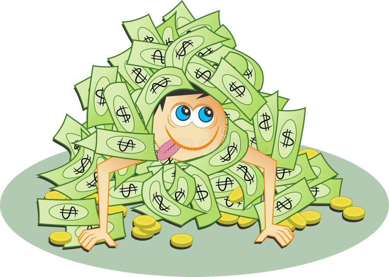 Download Dollarhög stock illustrationer. Illustration av rikt, valuta - 42035