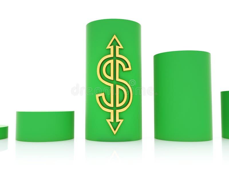 dollarhastighet royaltyfri illustrationer