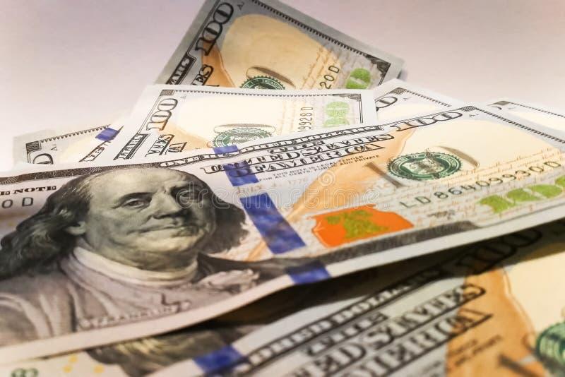 Dollari americani Banconote dei soldi Bill delle banconote in dollari di soldi fotografia stock