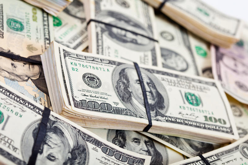 Dollari americani di banconote fotografie stock
