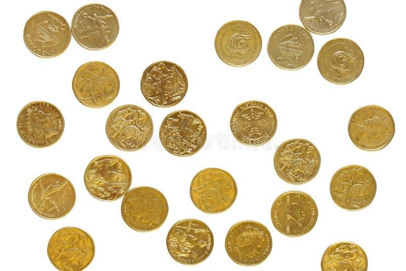 Dollari australiani sparsi fotografia stock