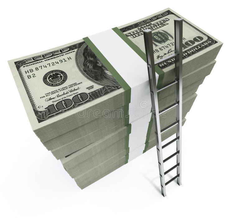 Dollari con la breve scaletta illustrazione di stock