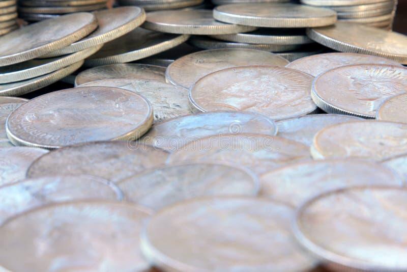 Dollari d'argento immagini stock