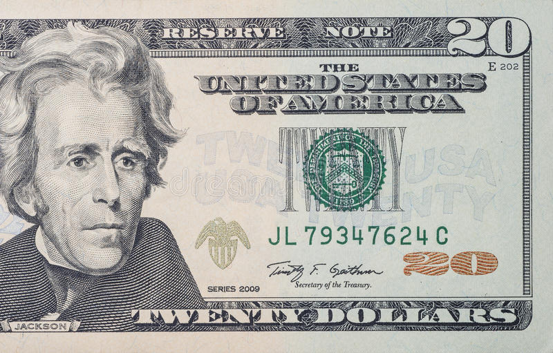 20 dollari di fattura immagine stock libera da diritti