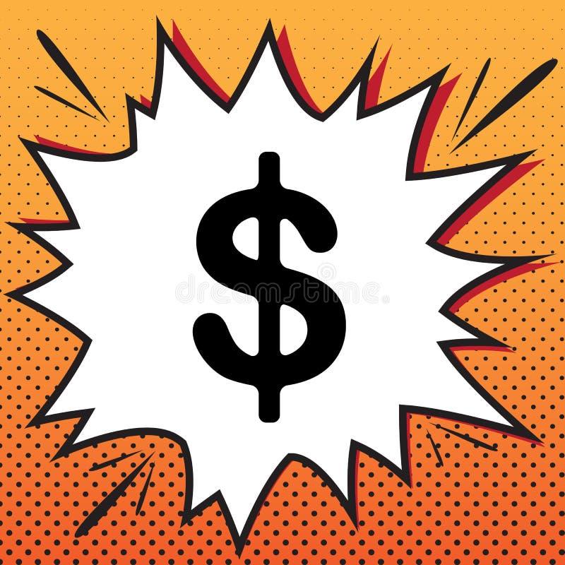 Dollari di illustrazione del segno Simbolo di valuta di USD Etichetta dei soldi Vec illustrazione di stock