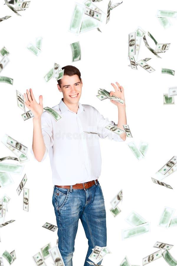 Dollari di pioggia fotografia stock libera da diritti