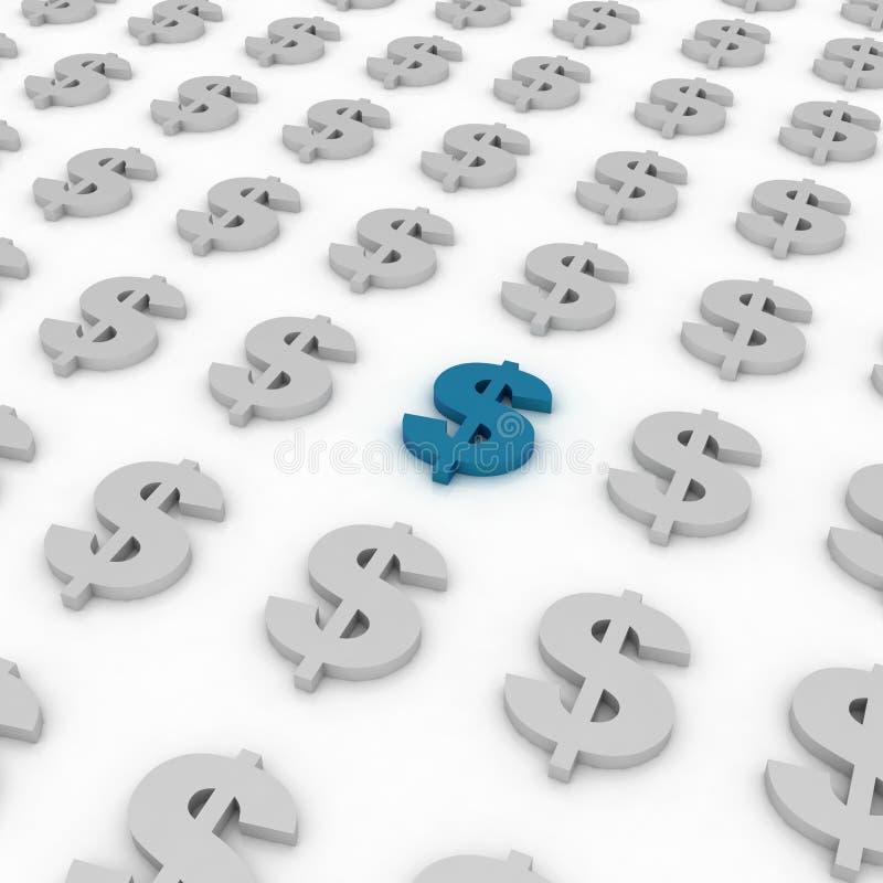 Dollari di priorità bassa del segno illustrazione vettoriale