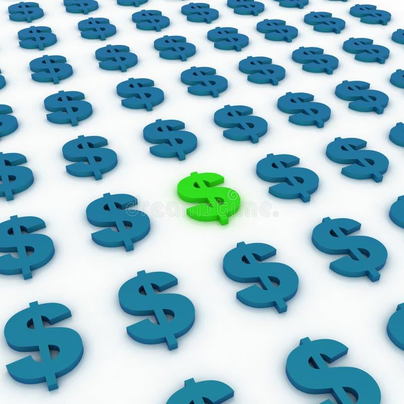 Dollari di priorità bassa del segno royalty illustrazione gratis